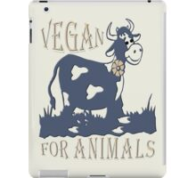 VEGAN FOR ANIMALS iPad Case/Skin