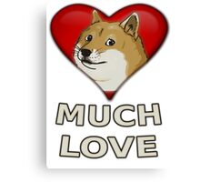 Doge Valentine's Day Canvas Print