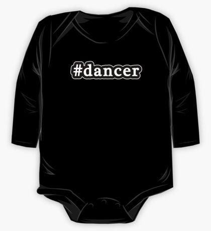 Dancer - Hashtag - Black & White One Piece - Long Sleeve