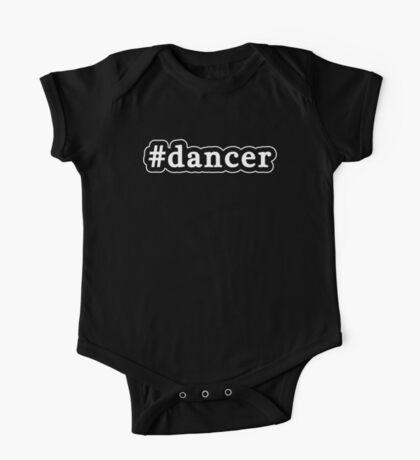 Dancer - Hashtag - Black & White One Piece - Short Sleeve