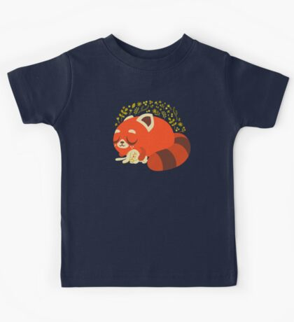 Sleeping Red Panda and Bunny Kids Tee