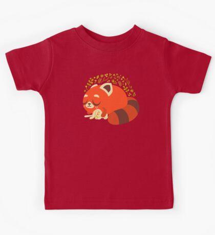 Sleeping Red Panda and Bunny Kids Tee