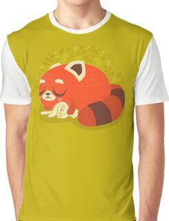 Sleeping Red Panda and Bunny Graphic T-Shirt