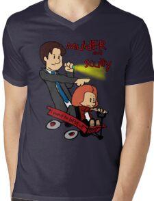 Mulder and Scully Mens V-Neck T-Shirt