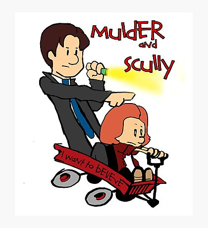 Mulder and Scully Photographic Print