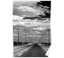 Power Lines to the End of the Road Poster