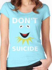 Don't Kermit Suicide Women's Fitted Scoop T-Shirt