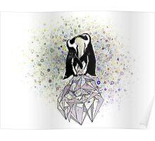 Iceberg Penguin Kiss Poster