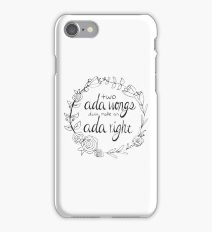 Cry n' Cox Proverbs Print iPhone Case/Skin