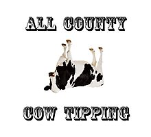 Cow Tipping Photographic Print
