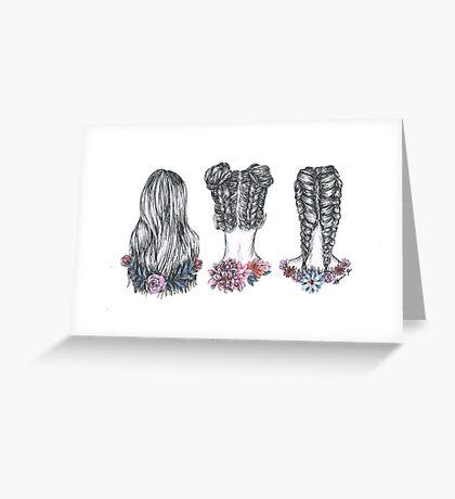 Hairstyles- ink Greeting Card