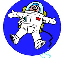 Cartoon Astronaut Floating by kwg2200