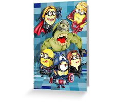 Cute caricature parody comics superheroes Group Greeting Card