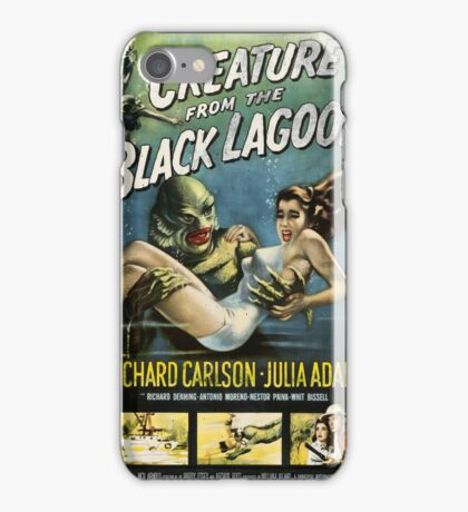 Creature From The Black Lagoon Vintage Poster iPhone Case/Skin