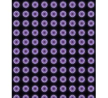 Purple Glow Kaleidoscope Repeat Pattern Photographic Print