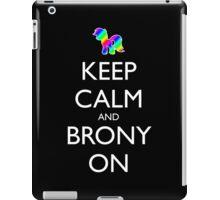Keep Calm and Brony On - Black iPad Case/Skin