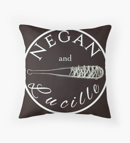 Negan and Lucille Throw Pillow