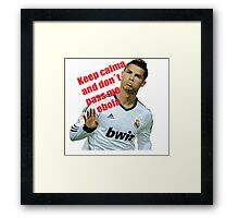 keep calm and don´t pass me ebola Framed Print