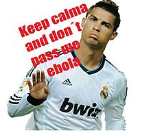 keep calm and don´t pass me ebola Photographic Print