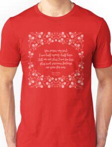 Jane Austen Persuasion Floral Love Letter Quote Unisex T-Shirt