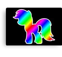Rainbow Pony Silhouette Canvas Print