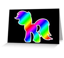 Rainbow Pony Silhouette Greeting Card