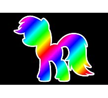 Rainbow Pony Silhouette Photographic Print