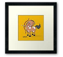 funny zodiac/sagittarius Framed Print