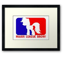 Major League Brony - Logo & Text Framed Print