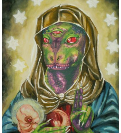 Blessed Reptilian Virgin and Child Sticker