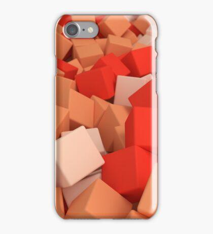 3d bulk of orange cubes iPhone Case/Skin