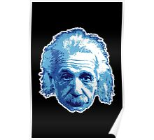 Albert Einstein - Theoretical Physicist - Blue Poster