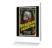 Dracula's Daughter Movie Vintage Poster Greeting Card