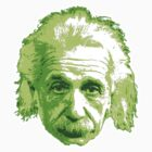 Albert Einstein - Theoretical Physicist - Green by graphix