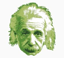 Albert Einstein - Theoretical Physicist - Green T-Shirt