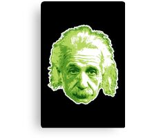 Albert Einstein - Theoretical Physicist - Green Canvas Print