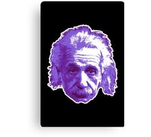 Albert Einstein - Theoretical Physicist - Purple Canvas Print