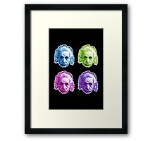 Albert Einstein - Theoretical Physicist - Rainbow Framed Print
