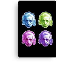 Albert Einstein - Theoretical Physicist - Rainbow Canvas Print