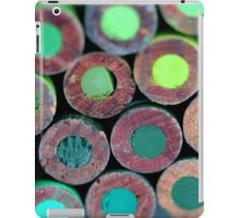 Pencils Back Green iPad Case/Skin