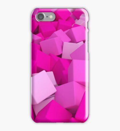 3d bulk of pink cubes iPhone Case/Skin
