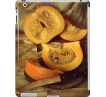 Still life with fresh pumpkins iPad Case/Skin