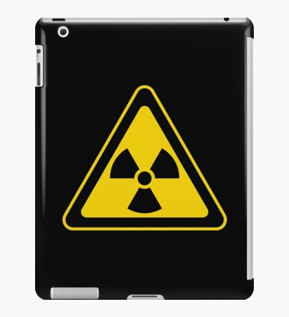 Radioactive Symbol Warning Sign - Radioactivity - Radiation - Yellow & Black - Triangular iPad Case/Skin