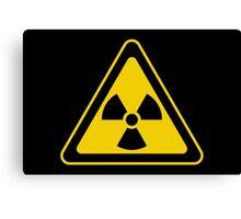 Radioactive Symbol Warning Sign - Radioactivity - Radiation - Yellow & Black - Triangular Canvas Print