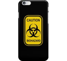 Caution Biohazard Sign - Yellow & Black - Rectangular iPhone Case/Skin