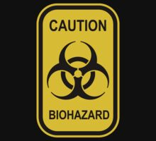 Caution Biohazard Sign - Yellow & Black - Rectangular by graphix