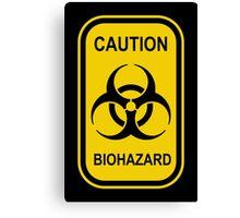 Caution Biohazard Sign - Yellow & Black - Rectangular Canvas Print