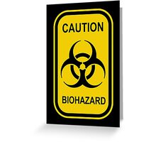 Caution Biohazard Sign - Yellow & Black - Rectangular Greeting Card