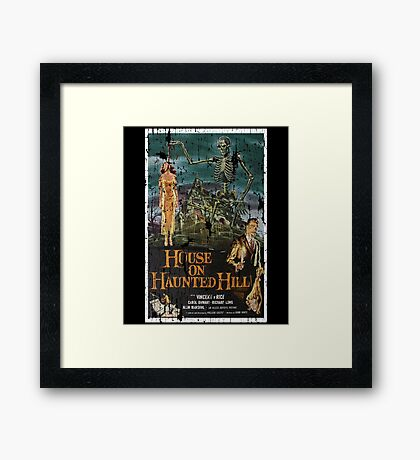 House on Haunted Hill Movie Vintage Poster Framed Print