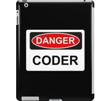 Danger Coder - Warning Sign iPad Case/Skin